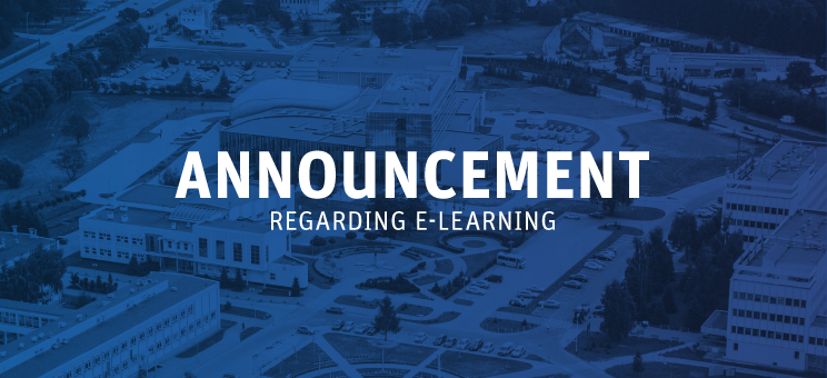Rector's announcement on teaching process in the form of e-learning